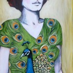 Chick #10 (with dress) 18x24 $695