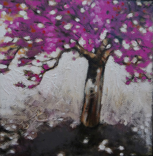"Spring 6""x6"" oil on canvas $125"